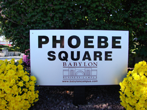 Phoebe Square Sign